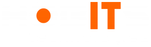 hobits technologies white logo png